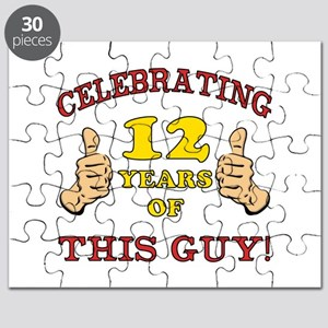 Funny 12th Birthday For Boys Puzzle