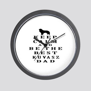 Kuvasz Dad Designs Wall Clock