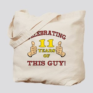Funny 11th Birthday For Boys Tote Bag