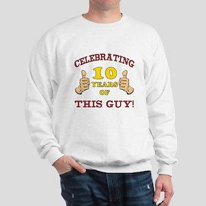 Funny 10th Birthday For Boys Sweatshirt