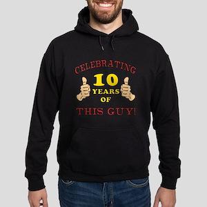 Funny 10th Birthday For Boys Hoodie (dark)