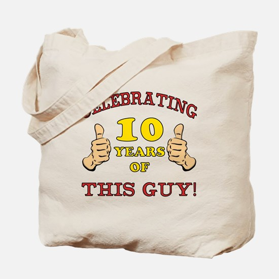 Funny 10th Birthday For Boys Tote Bag