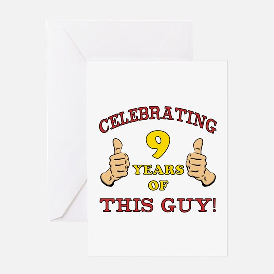 Funny 9th Birthday For Boys Greeting Card