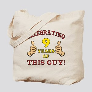 Funny 9th Birthday For Boys Tote Bag