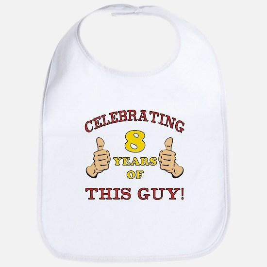 Funny 8th Birthday For Boys Bib