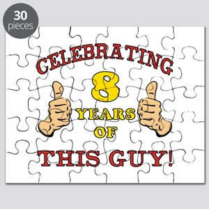 Funny 8th Birthday For Boys Puzzle