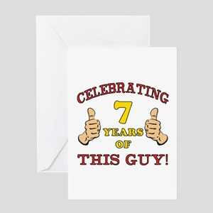 Funny 7th Birthday For Boys Greeting Card