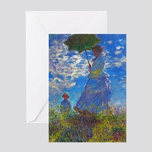 Monet - Woman with a Parasol Greeting Card