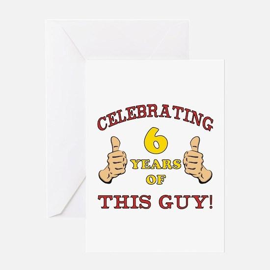Funny 6th Birthday For Boys Greeting Card