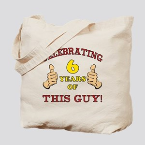 Funny 6th Birthday For Boys Tote Bag