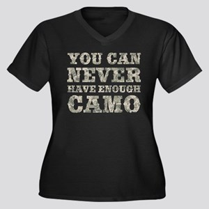 You Can Never Have Enough Camo Plus Size T-Shirt