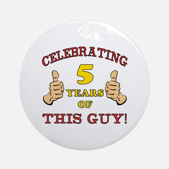 Funny 5th Birthday For Boys Ornament (Round)