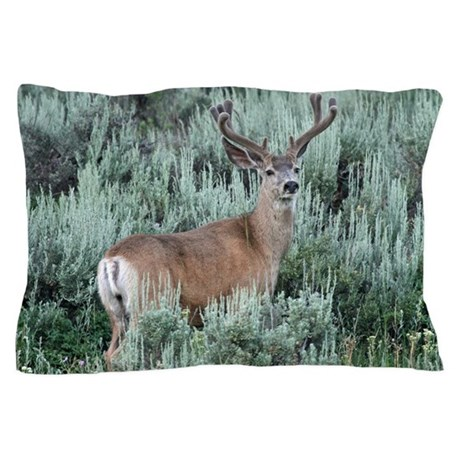 Mule deer buck Pillow Case