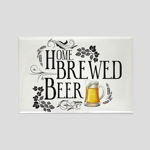 Home Brewed Beer Rectangle Magnet