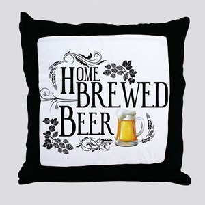 Home Brewed Beer Throw Pillow