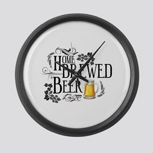 Home Brewed Beer Large Wall Clock