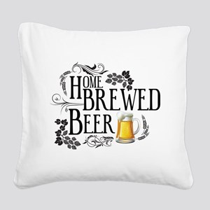 Home Brewed Beer Square Canvas Pillow