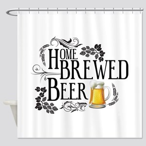 Home Brewed Beer Shower Curtain