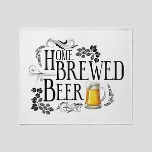 Home Brewed Beer Throw Blanket