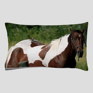 Horse with bird Pillow Case