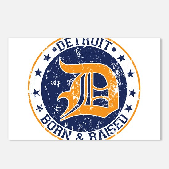 Detroit born and raised Postcards (Package of 8)