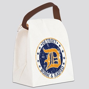 Detroit born and raised Canvas Lunch Bag