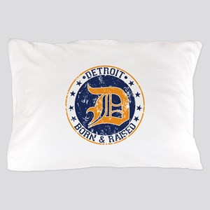Detroit born and raised Pillow Case