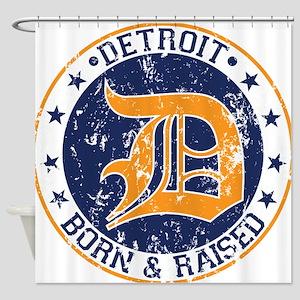 Detroit born and raised Shower Curtain