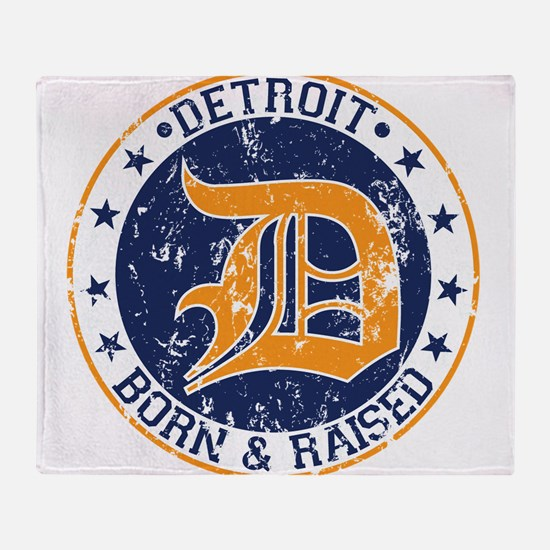Detroit born and raised Throw Blanket