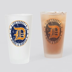 Detroit born and raised Drinking Glass
