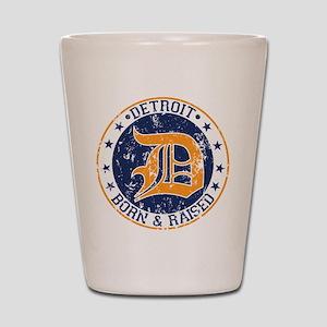 Detroit born and raised Shot Glass