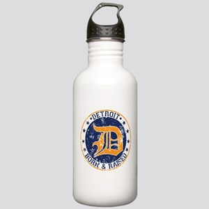 Detroit born and raised Water Bottle