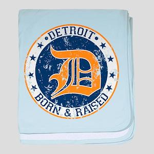 Detroit born and raised baby blanket