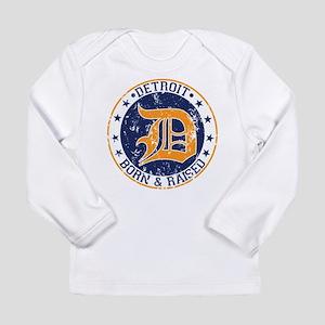 Detroit born and raised Long Sleeve T-Shirt