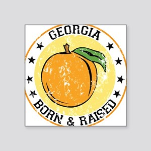 Georgia peach born raised Sticker