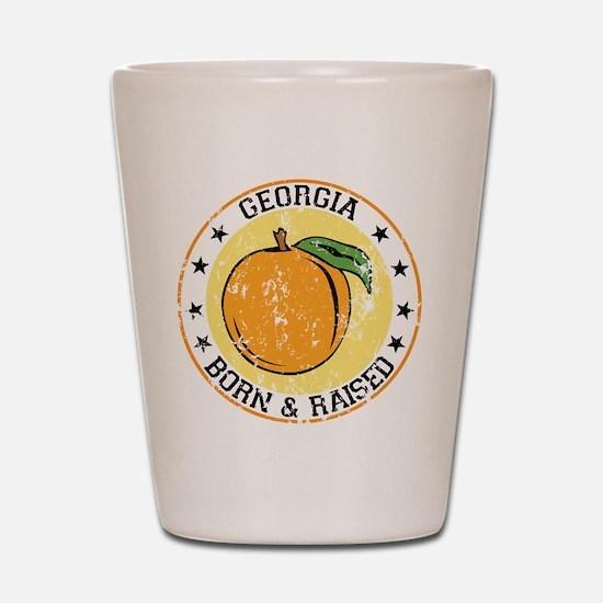Georgia peach born raised Shot Glass