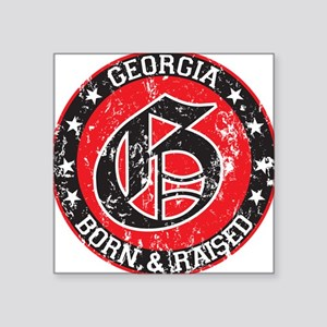 Georgia born raised dark Sticker