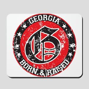 Georgia born raised dark Mousepad