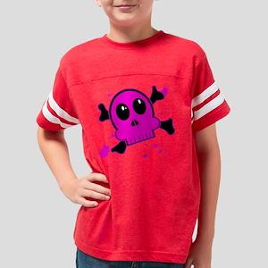 girliebloodyskullblk Youth Football Shirt