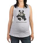 Panda Eats Shoots & Leaves Maternity Tank Top