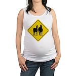zebra-crossing-sign... Maternity Tank Top