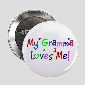 My Gramma Loves Me (des. #1) Button