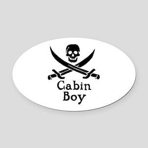 Cabin Boy Oval Car Magnet