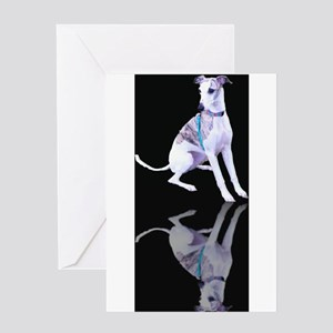 Whippet Reflection Greeting Card