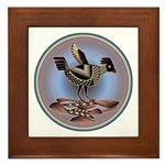 Mimbres Cream Quail Framed Tile