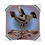 Mimbres Cream Quail Woven Throw Pillow