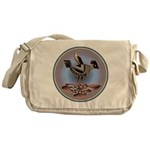 Mimbres Cream Quail Messenger Bag