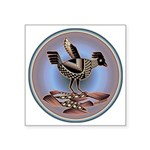 Mimbres Cream Quail Square Sticker 3