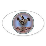 Mimbres Cream Quail Sticker (Oval 50 pk)