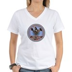 Mimbres Cream Quail Women's V-Neck T-Shirt